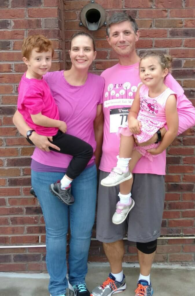 Paint Gwinnett Pink 2017-Katie Doss and family